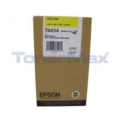 Epson T6024 Yellow Ink Cartridge T602400 Stylus Pro 7800 Genuine New Sealed Box