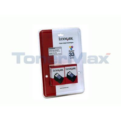 LEXMARK P6250 N0 33 PRINT CART COLOR 18C0534