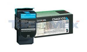 LEXMARK C544 X544 TONER CARTRIDGE CYAN RP 4K (C544X1CG)