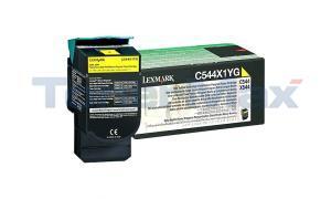 LEXMARK C544 X544 TONER CARTRIDGE YELLOW RP 4K (C544X1YG)