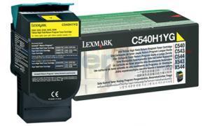 LEXMARK C540 C543 TONER CARTRIDGE YELLOW RP 2K (C540H1YG)