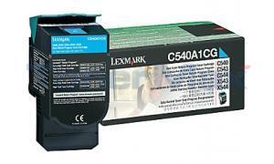 LEXMARK C540 C543 TONER CARTRIDGE CYAN RP 1K (C540A1CG)