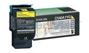 LEXMARK C540 C543 TONER CARTRIDGE YELLOW RP 1K (C540A1YG)