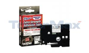 BROTHER TZ EXTRA-STRENGTH TAPE WHITE/CLEAR 1/2IN (TZ-S135)