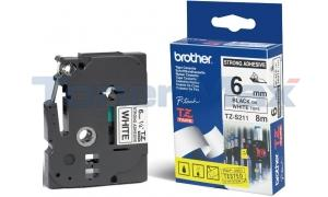 BROTHER TZ EXTRA-STRENGTH TAPE BLACK/WHITE 1/4IN (TZ-S211)