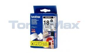BROTHER TZ SECURITY TAPE BLACK/WHITE 3/4IN WIDTH (TZ-SE4)