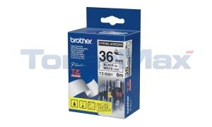 BROTHER TZ EXTRA-STRENGTH TAPE BLACK/WHITE 1-1/2IN (TZ-S261)