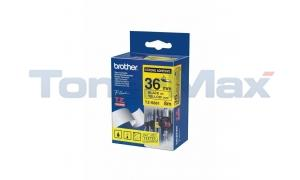 BROTHER TZ EXTRA-STRENGTH TAPE BLACK ON YELLOW 1-1/2 (TZ-S661)