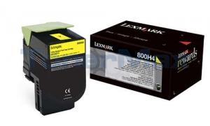 LEXMARK CX410 TONER CARTRIDGE YELLOW 3K (80C0H40)