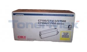 OKIDATA C7100/C7500 TYPE C4 TONER YELLOW (41963001)