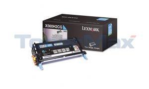 LEXMARK X560 TONER CART CYAN 10K (X560H2CG)
