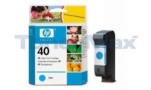 HP NO 40 INK CART CYAN 42ML (51640C)