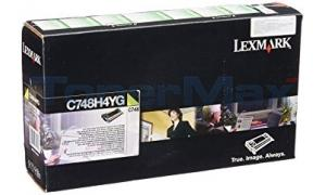 LEXMARK C748 RP TONER CART YELLOW 10K TAA (C748H4YG)