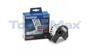 BROTHER P-TOUCH BLACK ON WHITE FILM TAPE 1-1/7IN (DK2211)