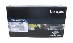 LEXMARK X748 PRINT CARTRIDGE CYAN 10K RP TAA (X748H4CG)