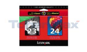 LEXMARK X3550 NO. 23 24 RP INKJET CTG CMYK (18C1571)