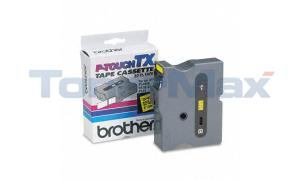 BROTHER P-TOUCH TAPE BLACK ON YELLOW (24 MM X 15 M) (TX-6511)