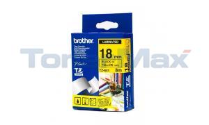 BROTHER P-TOUCH TAPE BLACK/YELLOW (3/4 X 26) (TZ-641)
