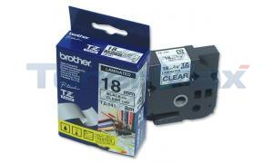 BROTHER P-TOUCH TAPE BLK/CLEAR (3/4 X 26) (TZ-141)