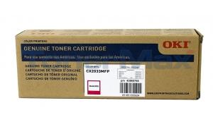 OKIDATA CX2033 MFP TONER CARTRIDGE MAGENTA (43865766)