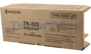 KYOCERA MITA FS-3900DN TONER CARTRIDGE BLACK (TK-322)