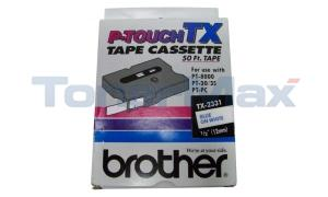 BROTHER TX TAPE BLUE ON WHITE 12 MM X 15 M (TX-2331)