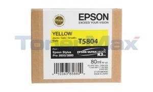 EPSON STYLUS PRO 3800 ULTRACHROME INK CARTRIDGE YELLOW 80ML (T580400)