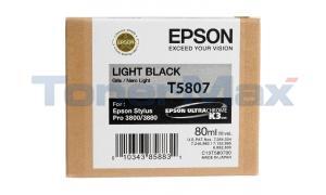 EPSON STYLUS PRO 3800 ULTRACHROME INK CARTRIDGE LIGHT BLACK 80ML (T580700)