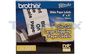 BROTHER P-TOUCH DIE CUT LG SHIP LABELS 4IN X 6IN (DK-1241)