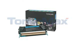 LEXMARK C734DN RP TONER CART CYAN 6K (C734A1CG)