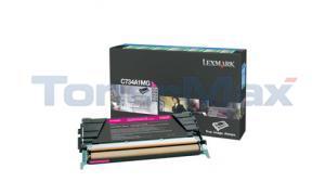 LEXMARK C734DN RP TONER CART MAGENTA 6K (C734A1MG)