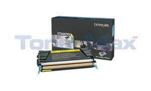 LEXMARK C734DN TONER CART YELLOW 6K (C734A2YG)