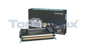 LEXMARK C736DN TONER CARTRIDGE BLACK RP 12K (C736H1KG)