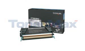 LEXMARK C736DN TONER CART BLACK 12K (C736H2KG)