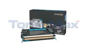 LEXMARK C736DN TONER CART CYAN 10K (C736H2CG)