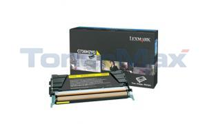 LEXMARK C736DN TONER CART YELLOW 10K (C736H2YG)