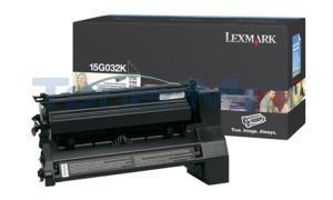 LEXMARK C752 LASER PRINT CART BLACK 15K (15G032K)
