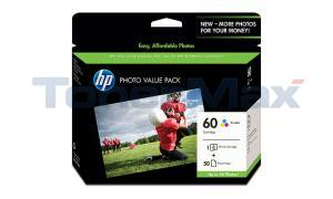 HP D2530 NO 60 INK CTG TRI-COLOR PHOTO VALUE PACK (CG845AN)