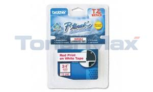 BROTHER P-TOUCH TAPE RED/WHITE (3/4 X 26) (TZ-242)