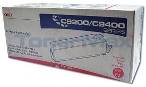 OKIDATA C9000 TYPE C3 TONER MAGENTA (41515206)