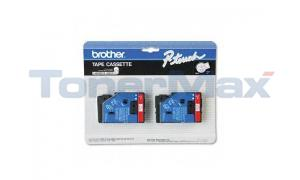 BROTHER P-TOUCH TAPE RED/WHITE (1/2 X 25) (TC-21)