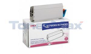 OKIDATA C7000 TYPE C2 TONER MAGENTA (41304206)