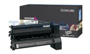 LEXMARK C752 LASER PRINT CART MAGENTA 15K (15G032M)