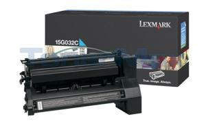 LEXMARK C752 LASER PRINT CART CYAN 15K (15G032C)
