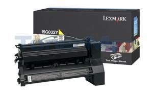 LEXMARK C752 LASER PRINT CART YELLOW 15K (15G032Y)