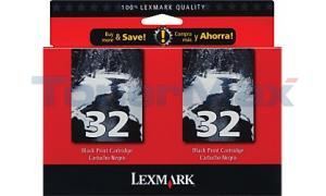 LEXMARK X5250 NO. 32 PRINT CTG BLACK TWIN PACK (18C0533)