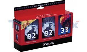 LEXMARK NO. 32 33 PRINT CTG CMYK TRI-PACK (18C1517)