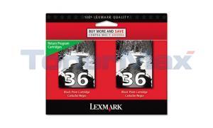 LEXMARK X3650 NO.36 RP PRINT CART BLACK (18C2236)
