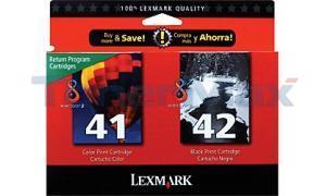 LEXMARK NO. 41 42 INK CTG CMYK COMBO PACK (18Y0238)
