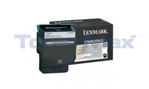 LEXMARK C546 X546 TONER CARTRIDGE BLACK 8K (C546U2KG)